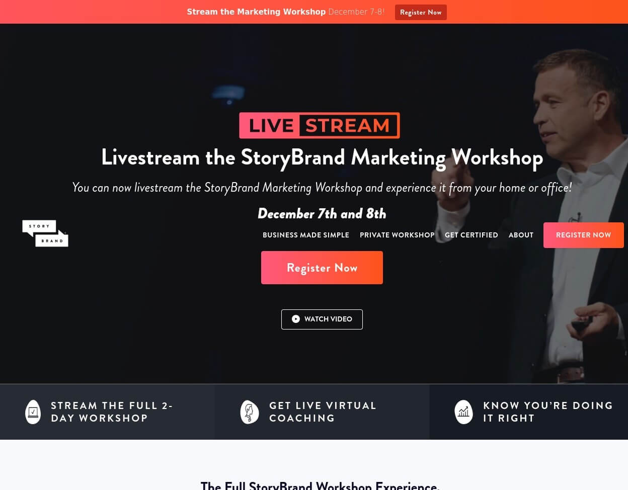 Storybrand Website Home Page